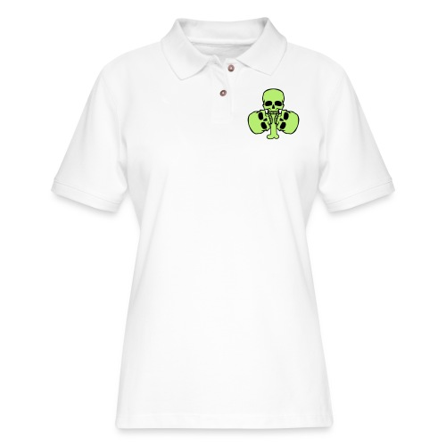 Skull Shamrock w/ Teeth - Women's Pique Polo Shirt