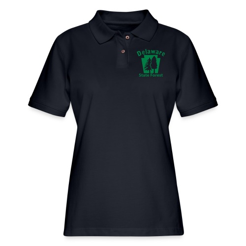 Delaware State Forest Keystone (w/trees) - Women's Pique Polo Shirt