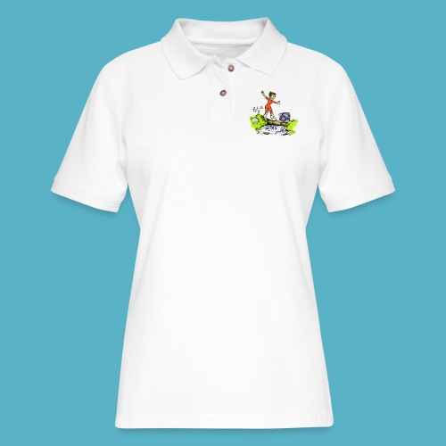 Testing Everywhere! - Women's Pique Polo Shirt