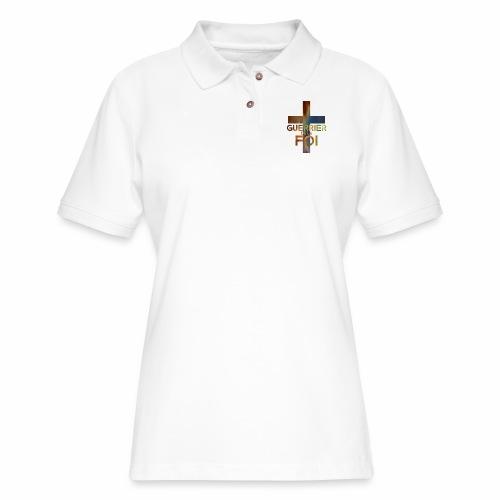 WARRIOR OF FAITH - Women's Pique Polo Shirt