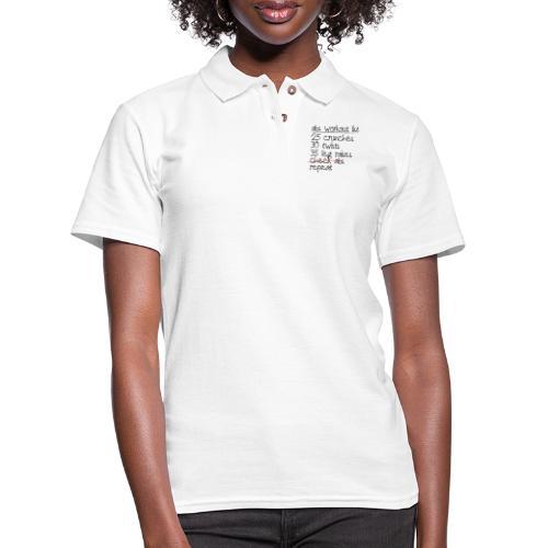 Abs Workout List - Women's Pique Polo Shirt