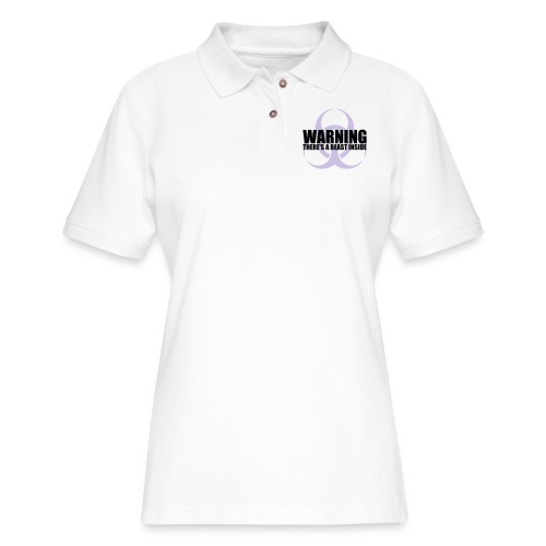 Warning...There's a Beast Inside - Women's Pique Polo Shirt