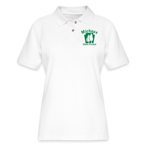 Michaux State Forest Keystone (w/trees) - Women's Pique Polo Shirt