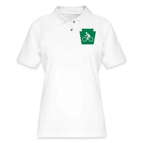 PA Keystone w/Bike (bicycle) - Women's Pique Polo Shirt