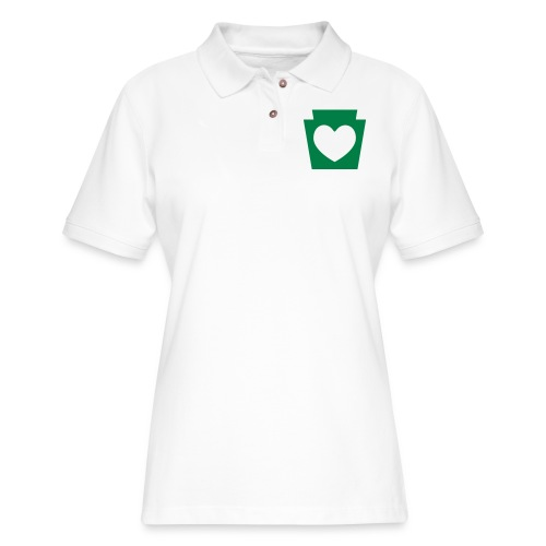 Love/Heart PA Keystone - Women's Pique Polo Shirt