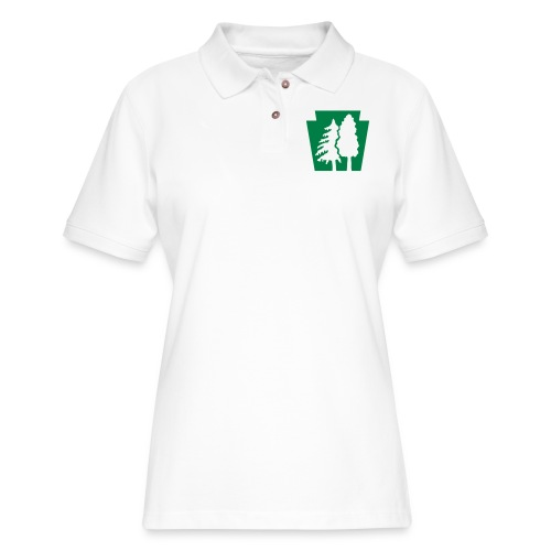 PA Keystone w/trees - Women's Pique Polo Shirt