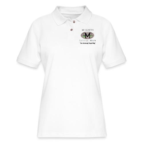 MIGHTY LITTLE MAN Logo - Women's Pique Polo Shirt