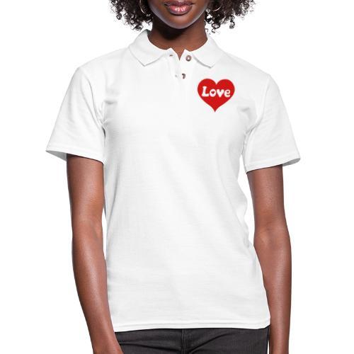 Love Heart - Women's Pique Polo Shirt
