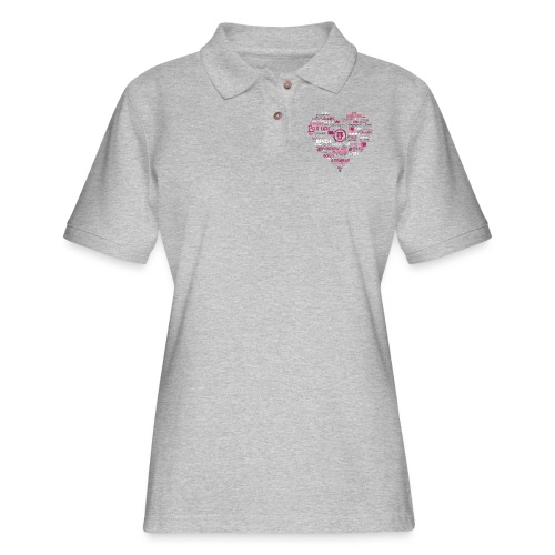 Feminine and Fierce Heart - Women's Pique Polo Shirt