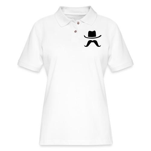 Hat & Mustache - Women's Pique Polo Shirt