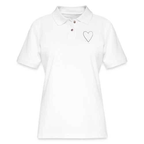 Heart Sweater and Tee - Women's Pique Polo Shirt