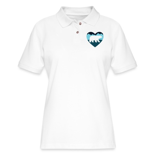 Polar Bear Love - Women's Pique Polo Shirt