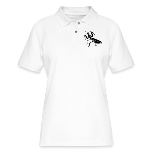 praying mantis bug insect - Women's Pique Polo Shirt