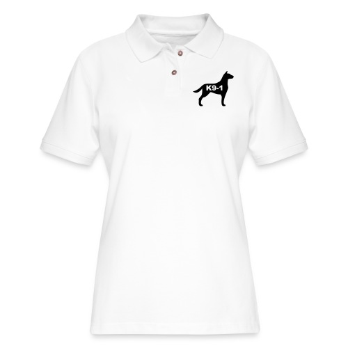 k9-1 Logo Large - Women's Pique Polo Shirt