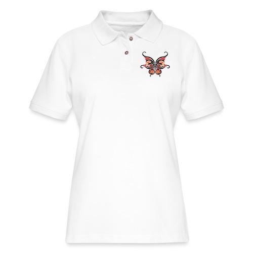 Butterfly Skull Heart Tattoo T-shirts, Hoodies, & - Women's Pique Polo Shirt