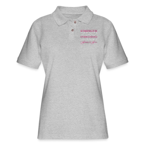 Strength Doesn't Come from - Feminine and Fierce - Women's Pique Polo Shirt