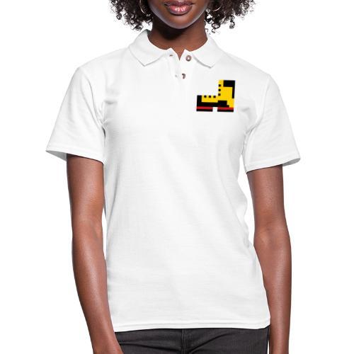 Pixel Boot VECTOR small - Women's Pique Polo Shirt