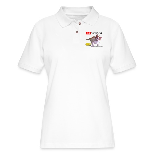 Sub to the Cat - Women's Pique Polo Shirt
