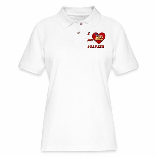I Heart my Soldier - Women's Pique Polo Shirt