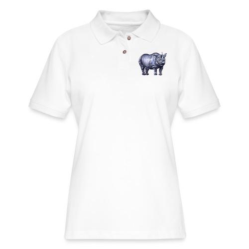 One horned rhino - Women's Pique Polo Shirt