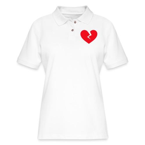 Broken Heart - Women's Pique Polo Shirt