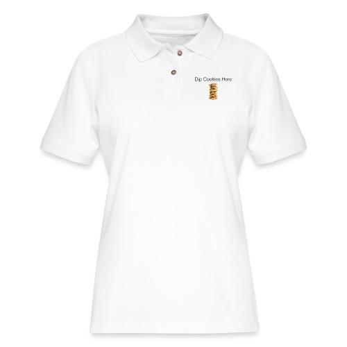 Dip Cookies Here mug - Women's Pique Polo Shirt
