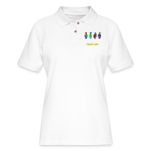Spaceteam Team Up! - Women's Pique Polo Shirt