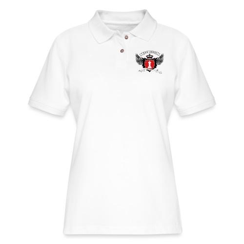 danjohnsawlogo - Women's Pique Polo Shirt