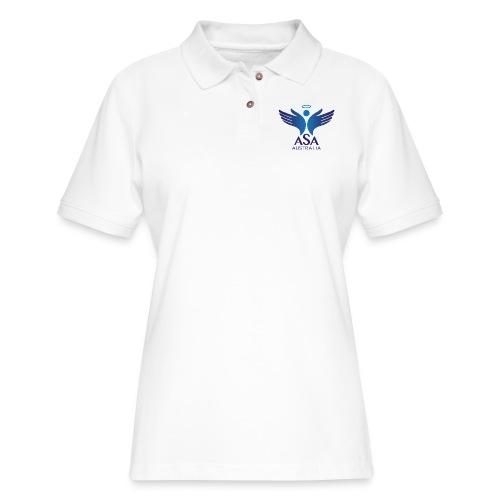 3459 Angelman Logo AUSTRALIA FA CMYK - Women's Pique Polo Shirt