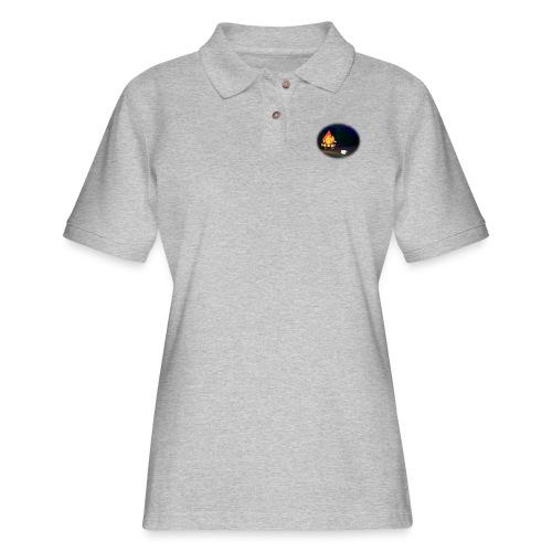 'Round the Campfire - Women's Pique Polo Shirt