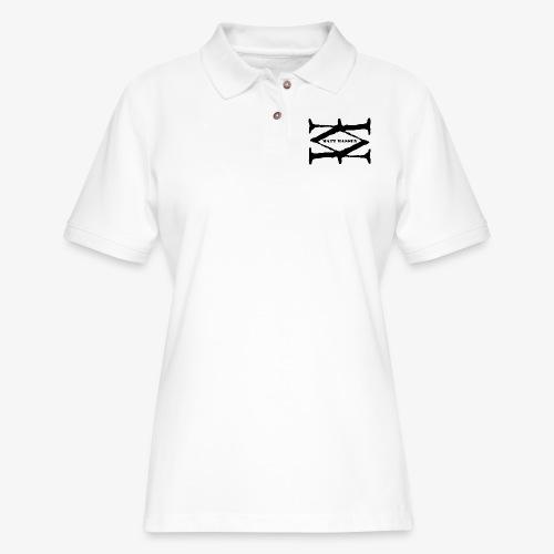 Matt Massey Logo Black - Women's Pique Polo Shirt