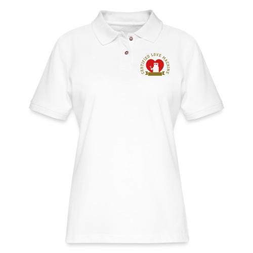 Certified Love Machine - Add Your Name! - Women's Pique Polo Shirt