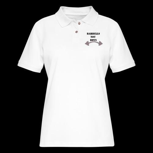 barbells not boys - Women's Pique Polo Shirt