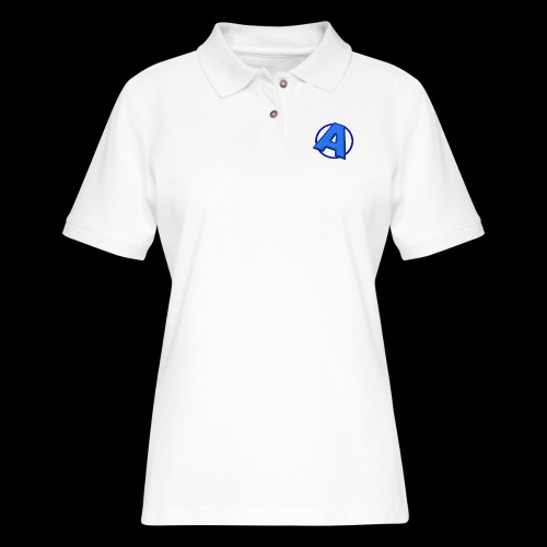 Awesomegamer Logo - Women's Pique Polo Shirt