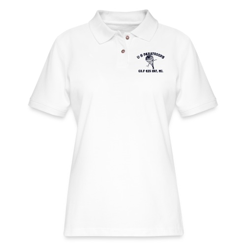 Co.F 425 INF, MI. - Women's Pique Polo Shirt