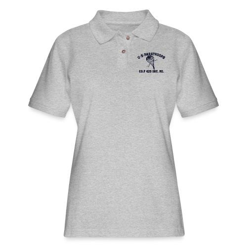 Co.F 425 INF, MI. - Women's Pique Polo Shirt