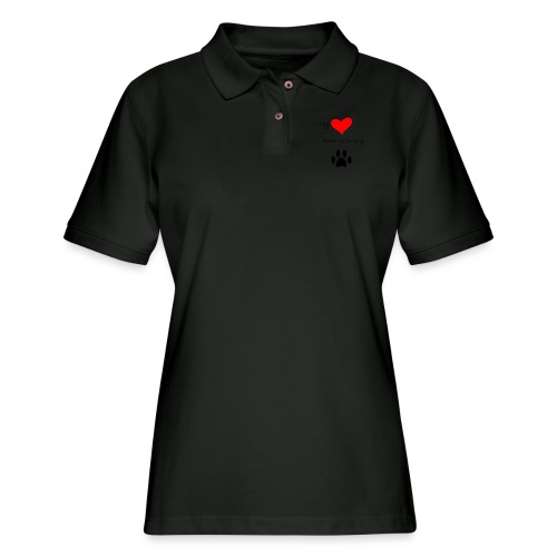 Dog Lovers shirt - My Heart Belongs to my Dog - Women's Pique Polo Shirt