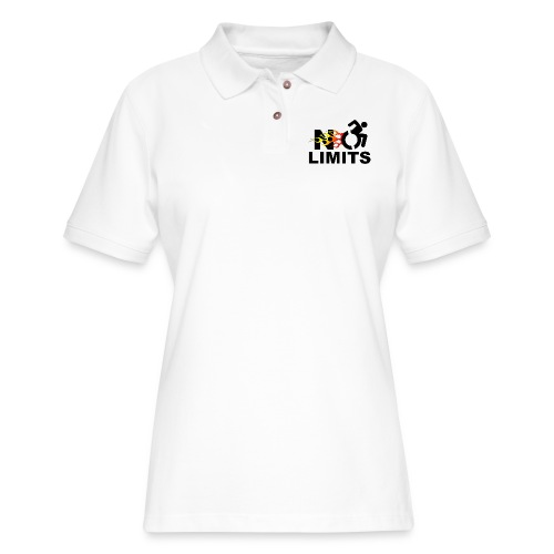 No limits for me with my wheelchair - Women's Pique Polo Shirt