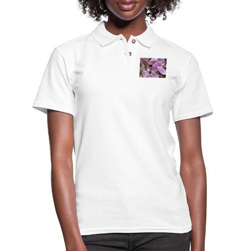 Purple Flower Beauties - Women's Pique Polo Shirt