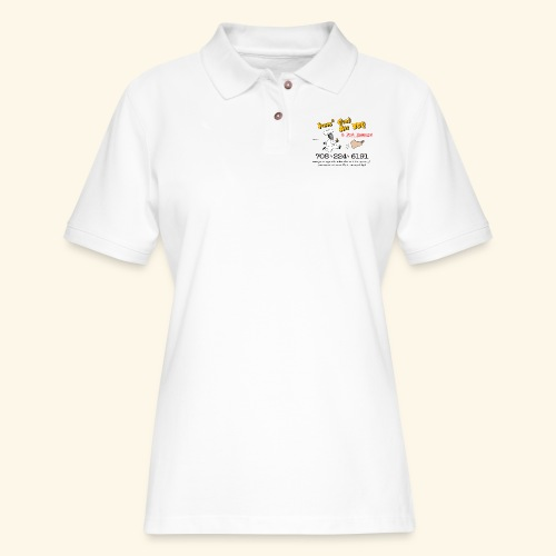 Jones Good Ass BBQ and Foot Massage logo - Women's Pique Polo Shirt
