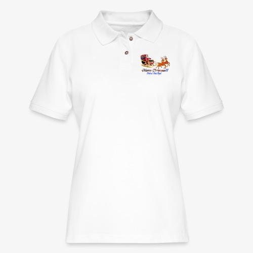 Merry Christmas-America - Women's Pique Polo Shirt
