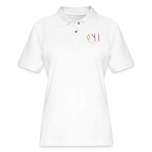 Kyoshin-Tekina Studios logo (white text) - Women's Pique Polo Shirt