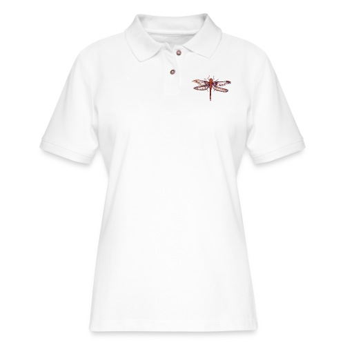 Dragonfly red - Women's Pique Polo Shirt
