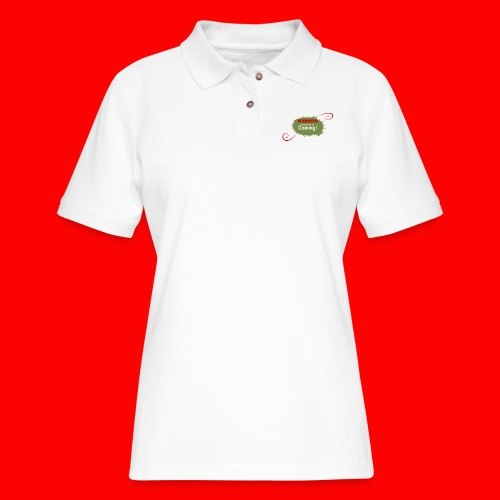 Christmas_is_Coming - Women's Pique Polo Shirt