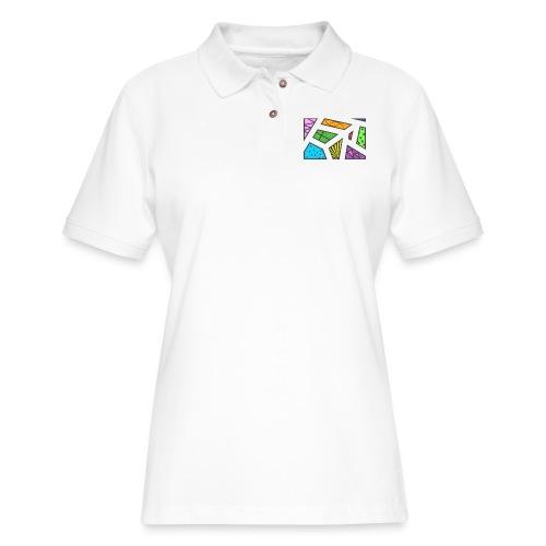 geometric artwork 1 - Women's Pique Polo Shirt