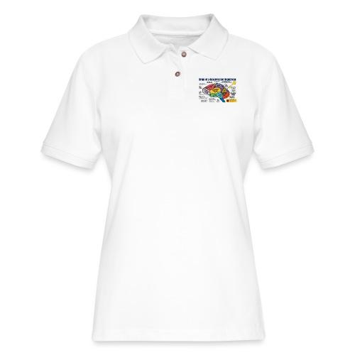 Brain of a Conservative Republican - Women's Pique Polo Shirt
