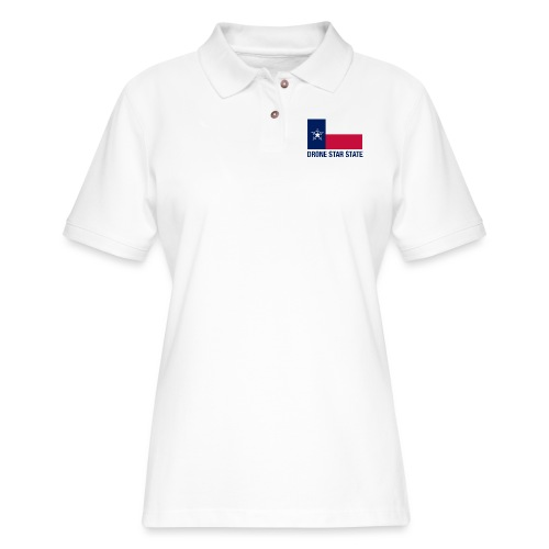 Drone Star State - Long Sleeve - Women's Pique Polo Shirt