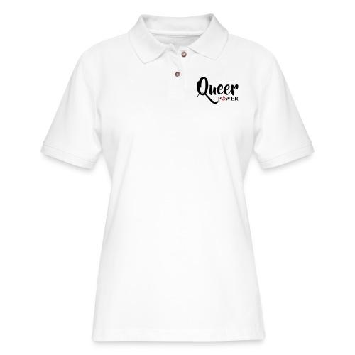 Queer Power T-Shirt 04 - Women's Pique Polo Shirt