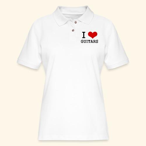 I love guitars - Women's Pique Polo Shirt