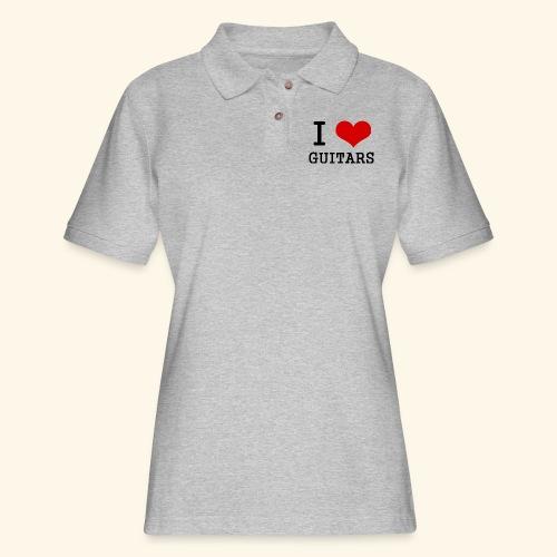 I love guitars - Women's Pique Polo Shirt